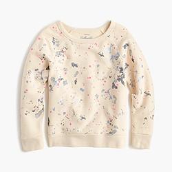 Girls' splatter paint sweatshirt