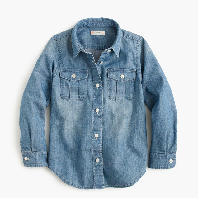 Girls' chambray keeper shirt