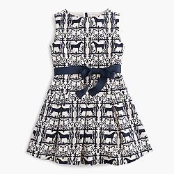 Girls' dress in wild horses print