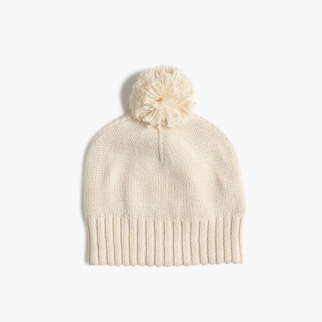 Girls' metallic woven cap