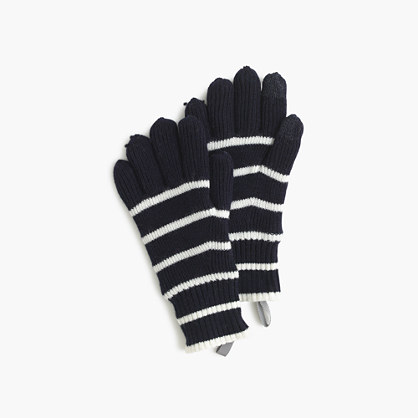 Kids' striped wool gloves
