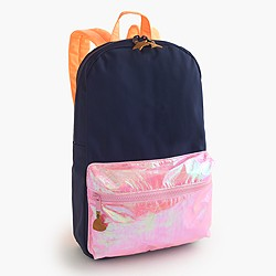 Girls' colorblock iridescent backpack