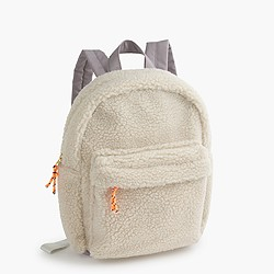 Girls' sherpa backpack