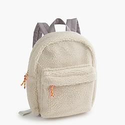Girls' sherpa backpack