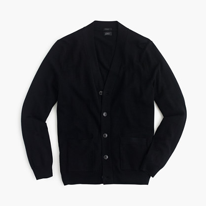 Slim merino wool cardigan sweater