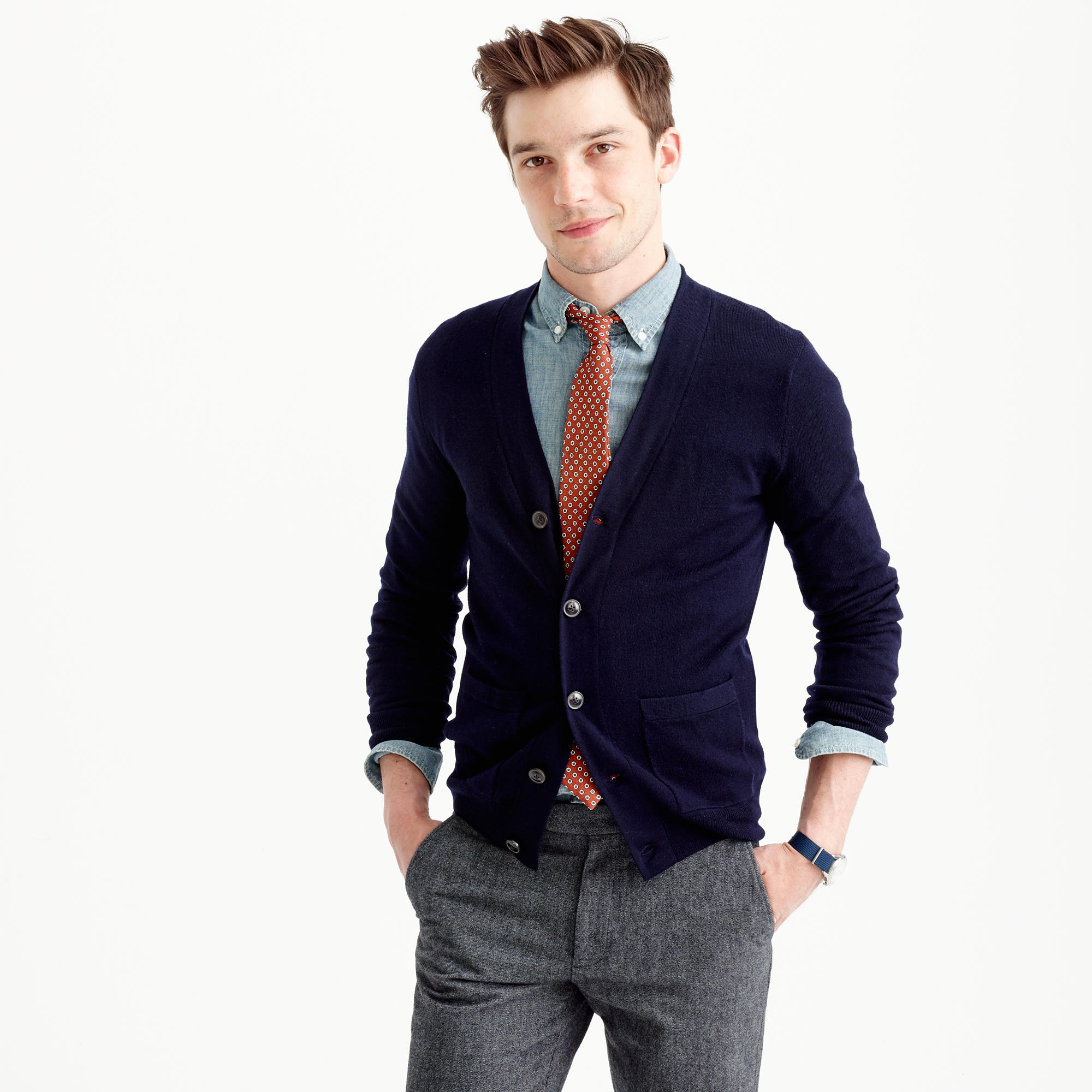 Men's Slim Size Clothing - Slim and Small Size Men's Sweaters