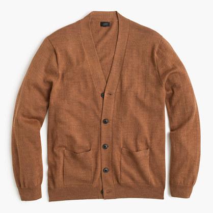 Slim merino wool cardigan sweater