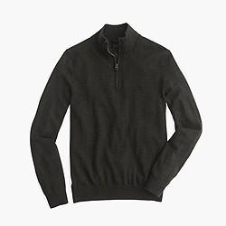 Slim merino wool half-zip sweater