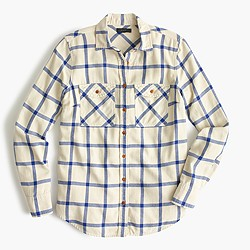 Boyfriend shirt in rockport plaid