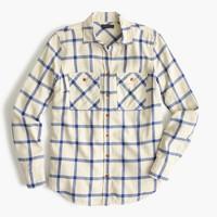 Boyfriend shirt in rockport plaid