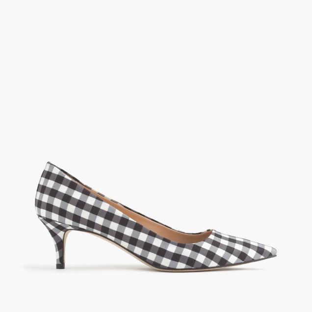 Gingham Dulci kitten heels