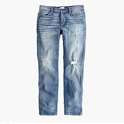 Petite slim broken-in boyfriend jean in Holdom wash