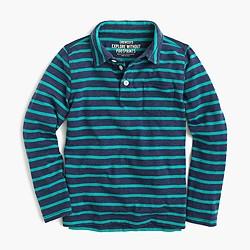 Boys' long-sleeve polo shirt in fender stripe
