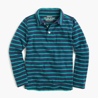 Boys' long-sleeve polo shirt in fender stripe