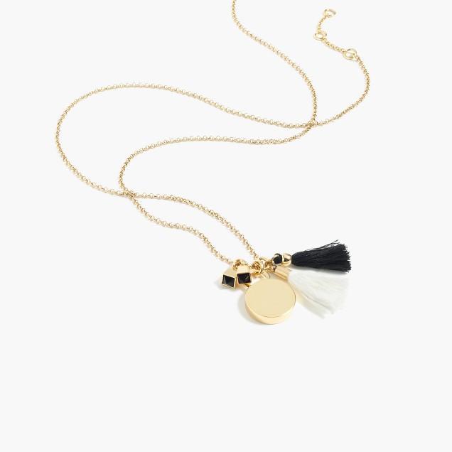 Tassel bell pendant necklace