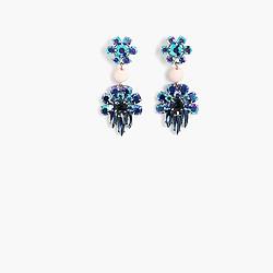 Dangly gem earrings