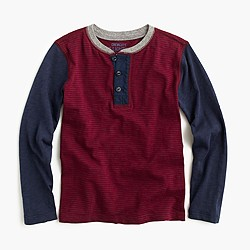 Boys' colorblock cotton henley