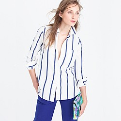 Boy shirt in bold stripe
