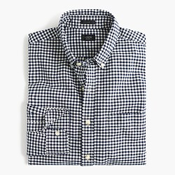 Slim vintage oxford shirt in aegean sea check