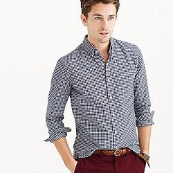 Slim vintage oxford shirt in aegean sea check