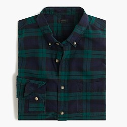 Slim vintage oxford shirt in Black Watch plaid