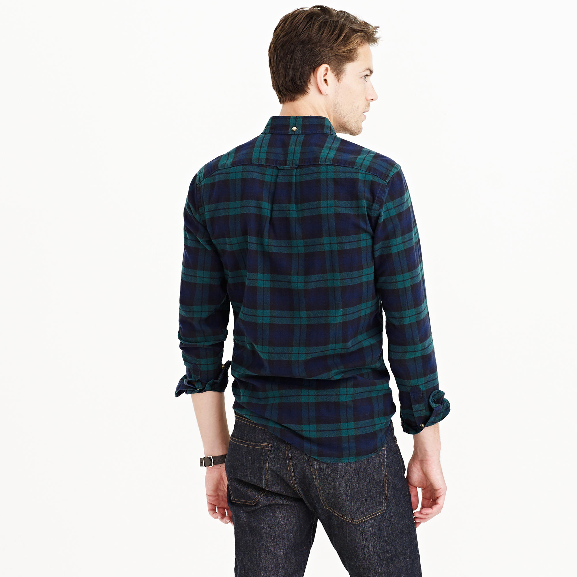 Vintage Oxford Shirt In Black Watch Plaid : Men's Shirts | J.Crew
