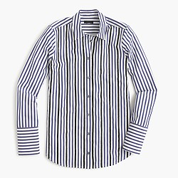 Collection embellished shirt in narrow stripe