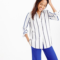 Collection embellished shirt in wide stripe