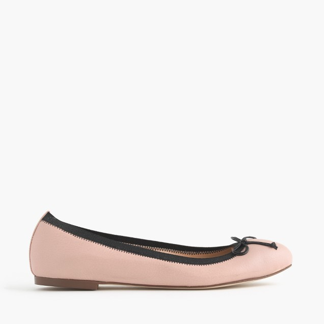 Ava tumbled leather ballet flats