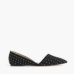 Sloan studded suede d'Orsay flats