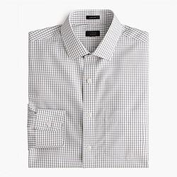 Ludlow Traveler shirt in pewter check