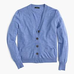 Solid V-neck cardigan sweater