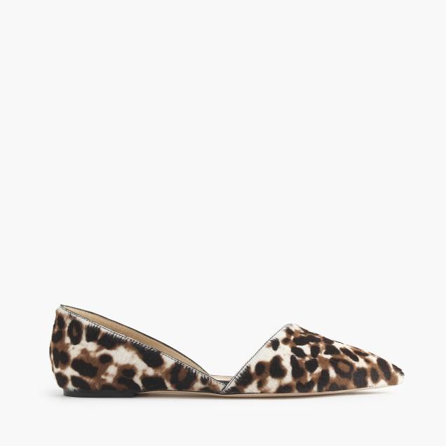 Collection Sloan calf hair d'Orsay flats