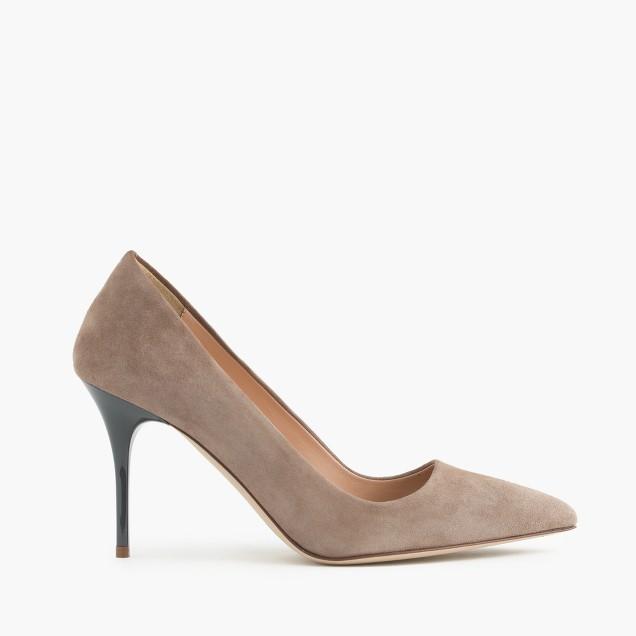 Elsie pumps with enamel heel