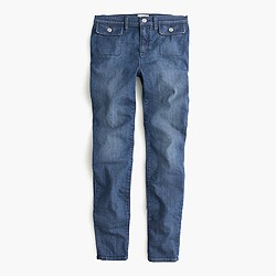 Lookout high-rise jean with novelty patch pocket