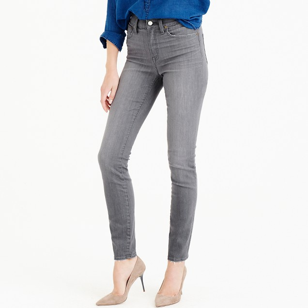 "Petite 9"" lookout high-rise jean in grey"