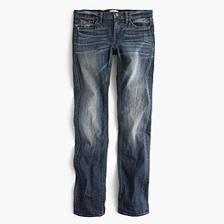 Petite matchstick Japanese selvedge jean in Emerson wash