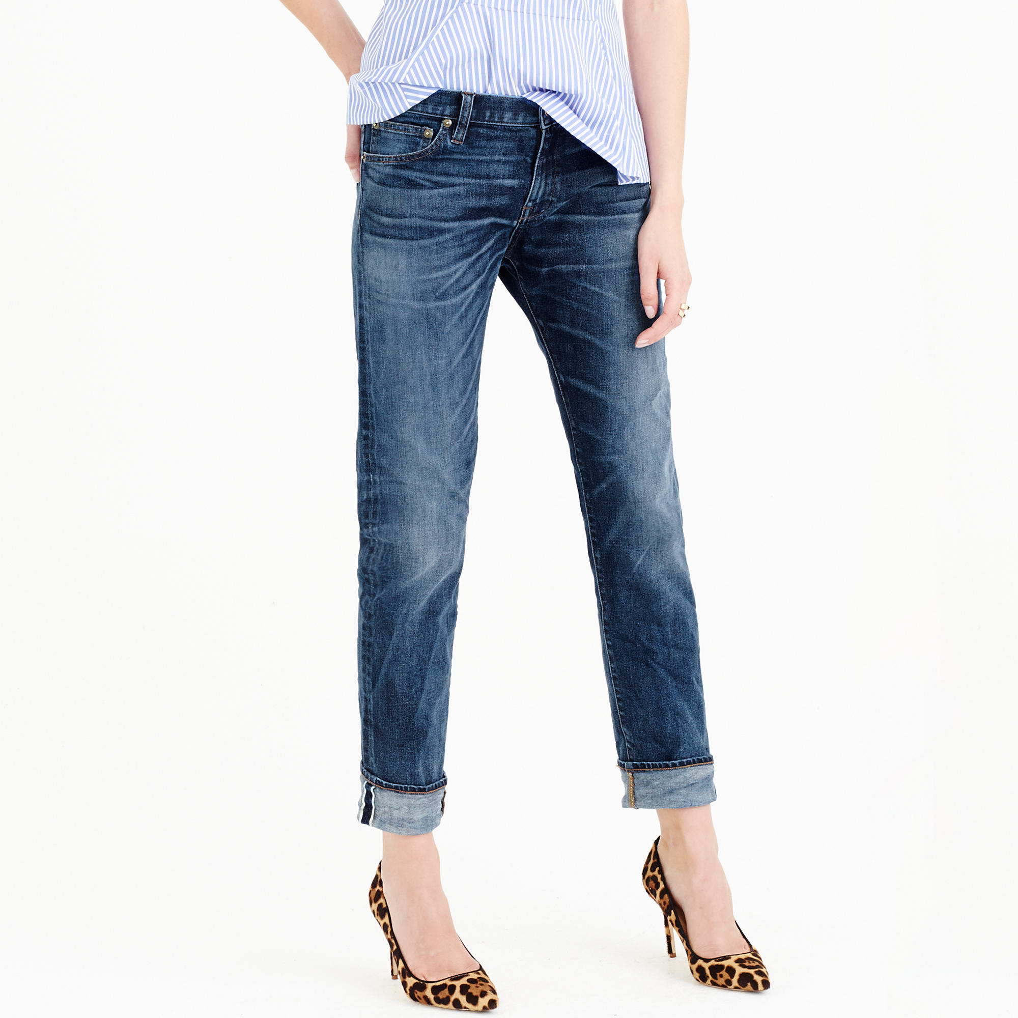Slim broken-in boyfriend jean in Port Stewart wash : Women ...