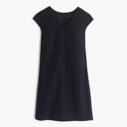 Petite sleeveless lace shift dress