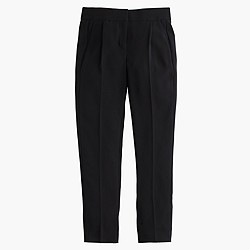 Petite pleated crepe trouser