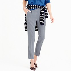 Tall pleated crepe trouser