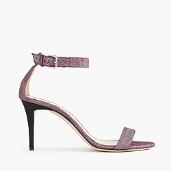 Glitter high-heel strappy sandals