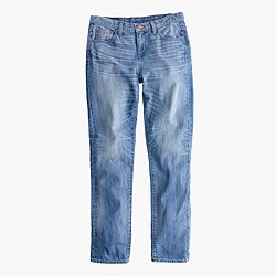 Petite broken-in boyfriend jean in Webster wash