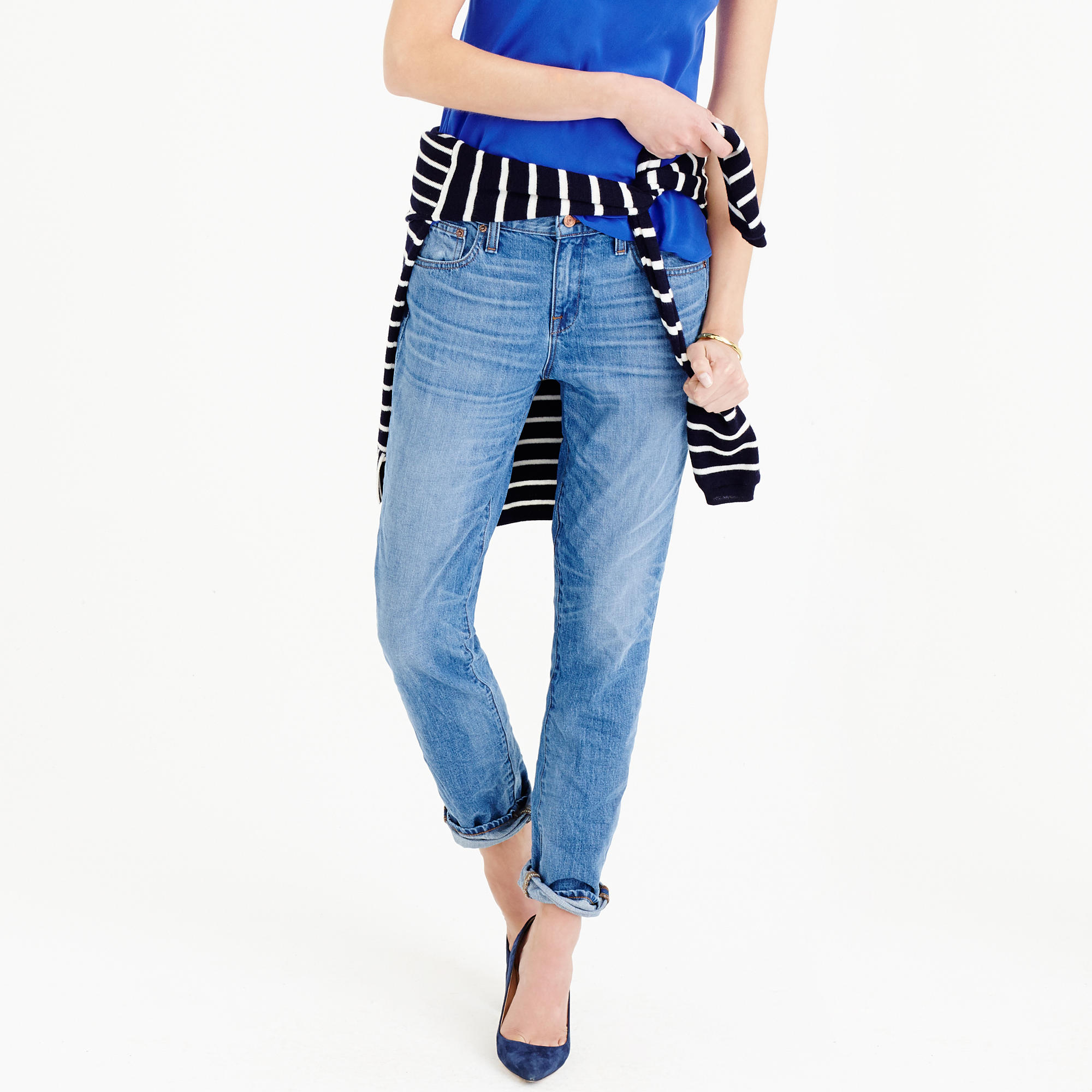 Petite broken-in boyfriend jean in Webster wash : | J.Crew