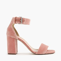 Velvet strappy sandals