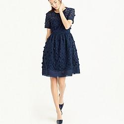 Collection appliquéd dot dress