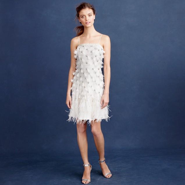 Feather flapper dress