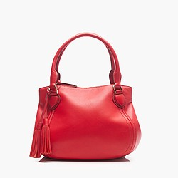 Peyton smooth leather satchel