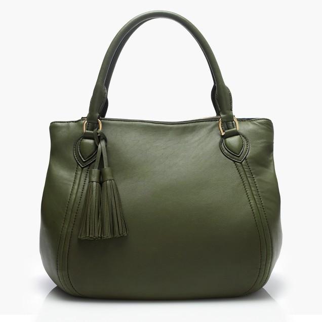 Large Peyton smooth leather satchel