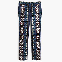 Maddie pant in windowpane jacquard